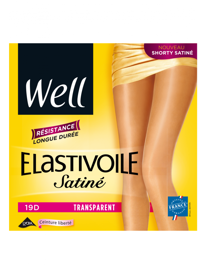 Elastivoile Satiné Collant Transparent