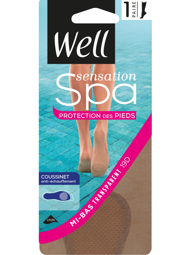 Mi-bas Sensation Spa Protection Pieds Transparent Coussinet