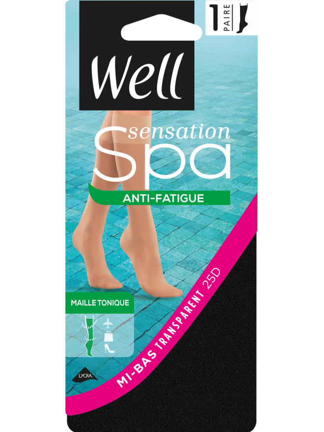 Mi-Bas Sensation Spa Anti-fatigue Transparent