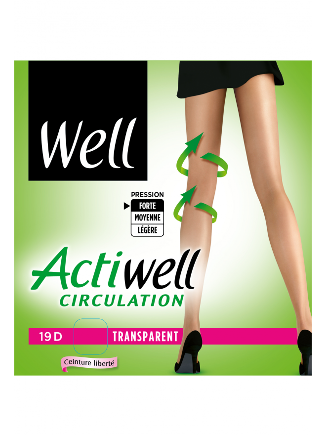 Collant Actiwell Circulation Transparent