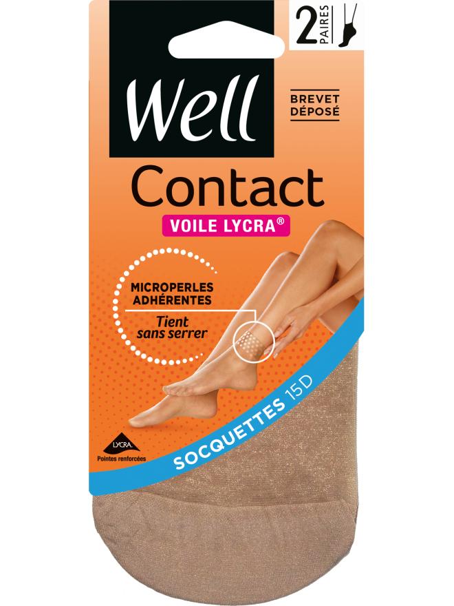 Contact Voile Lycra Lot de 2 Socquettes