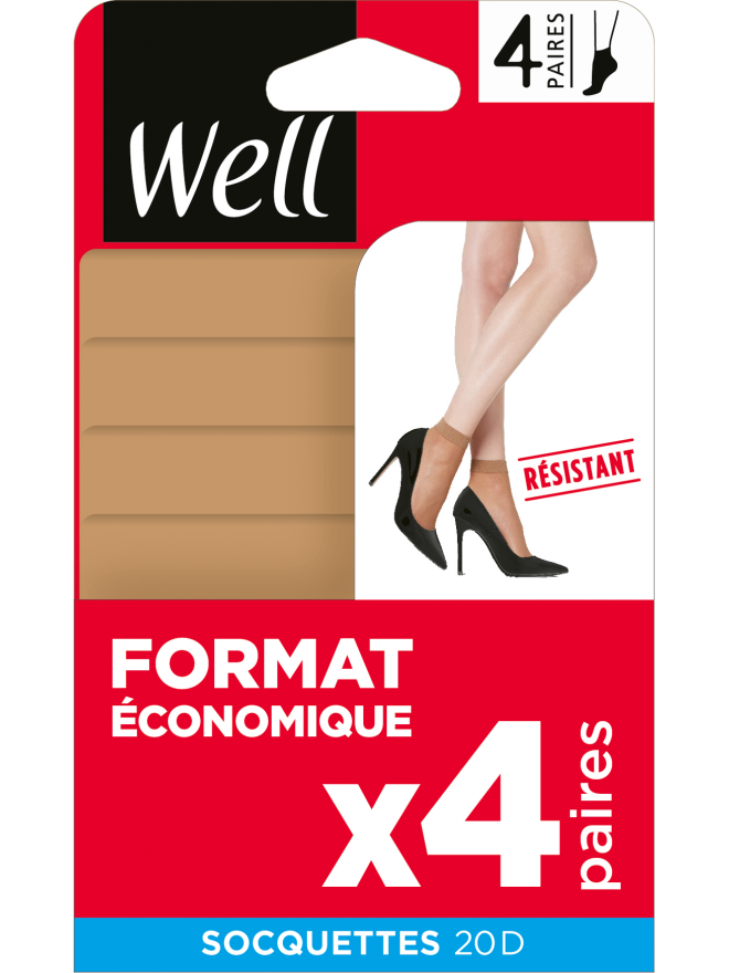 Socquettes Format Economique x4