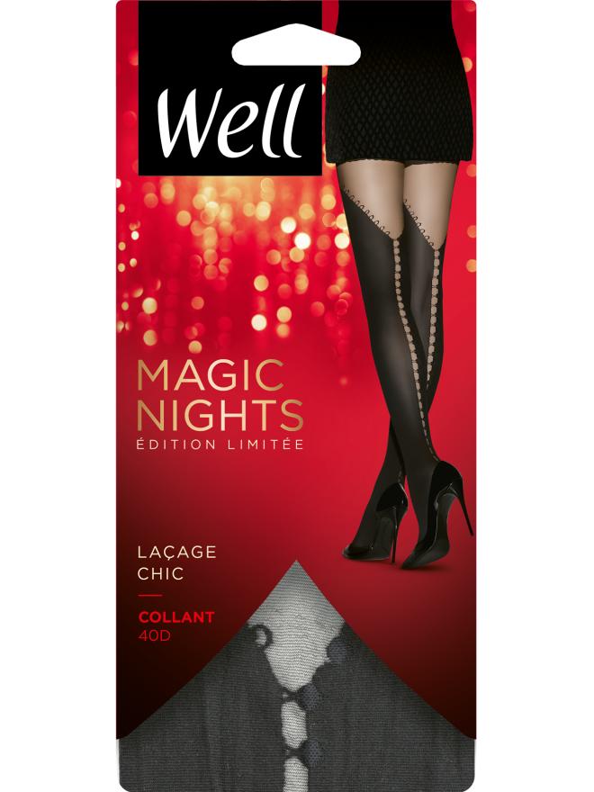 Collant Fantaisie Opaque 40D avec Baguette Arrière Magic Nights