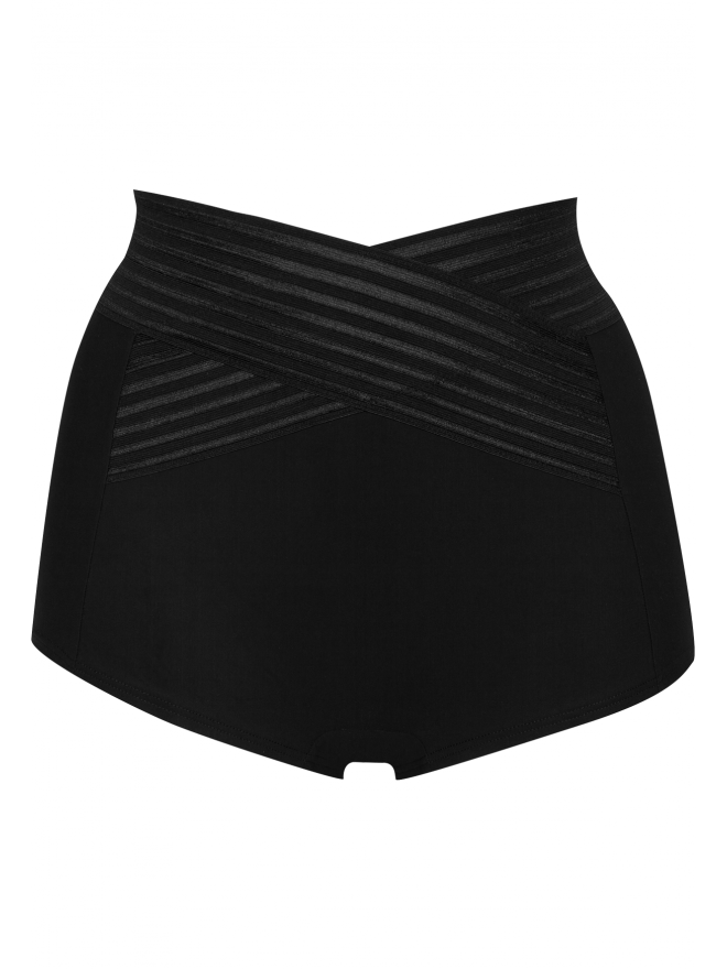 Well Body Galbe Graphique Shorty gainant taille haute