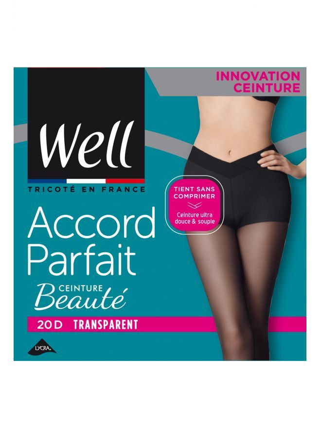 Accord Parfait Ceinture Beauté Collant Transparent