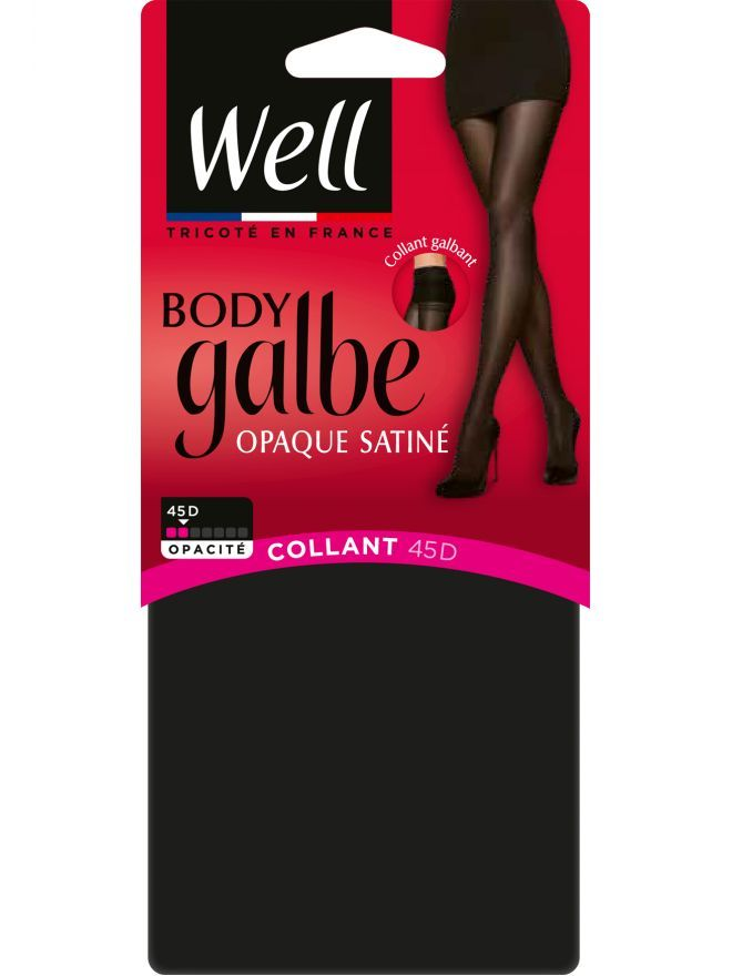 Body Galbe Collant Opaque Satiné