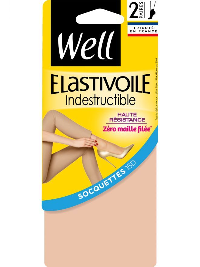 Elastivoile Indestructible Lot de 2 Socquettes Transparentes