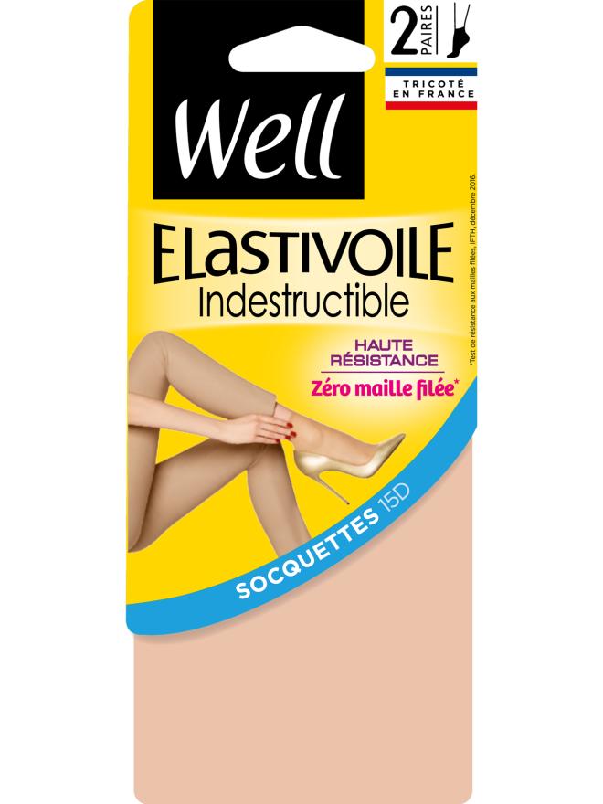 Elastivoile Indestructible Lot de 2 Socquettes Transparentes