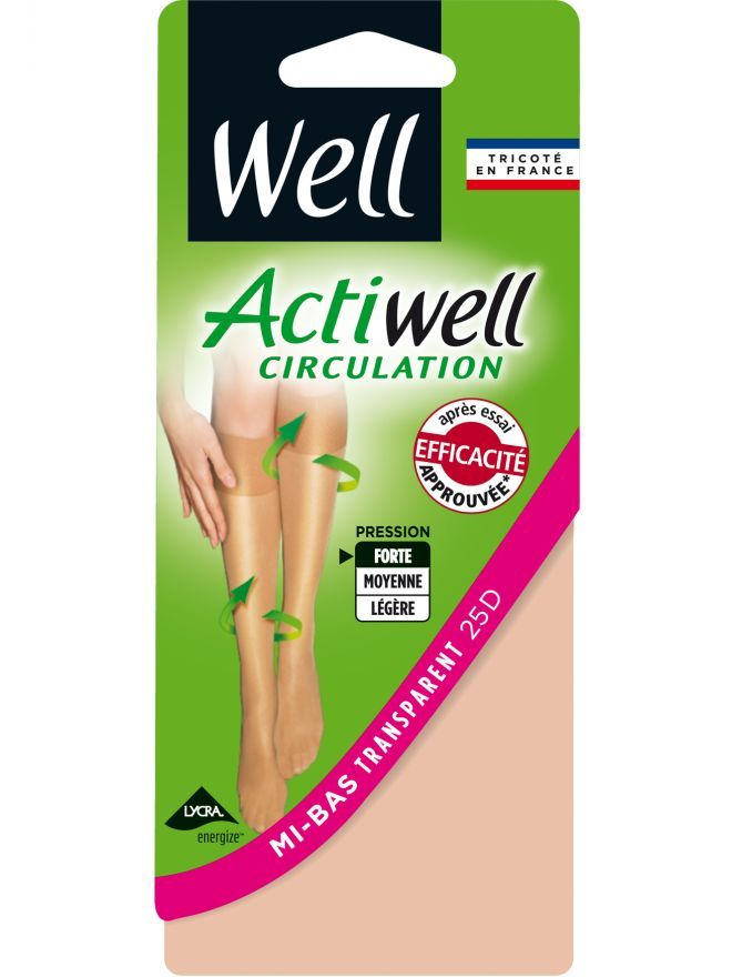 Actiwell Circulation Mi-Bas Transparent