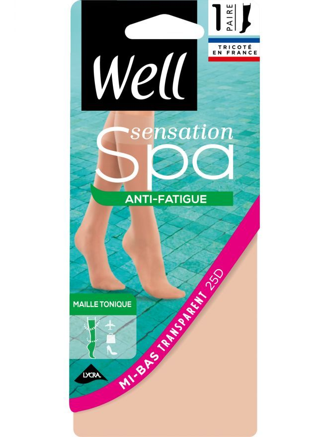 Sensation Spa Anti-fatigue Mi-Bas Transparent