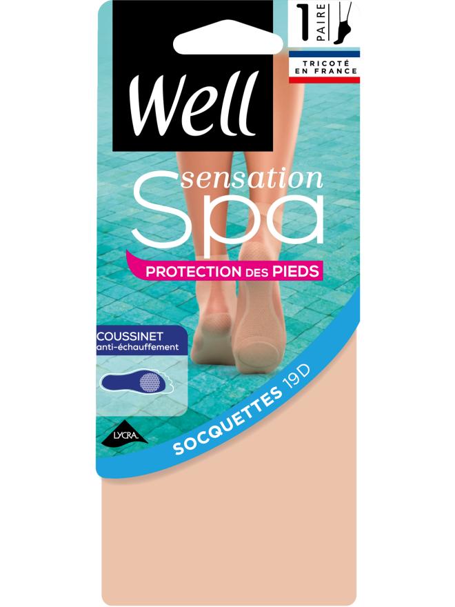 Sensation Spa Protection Pieds Socquettes Coussinet Transparente
