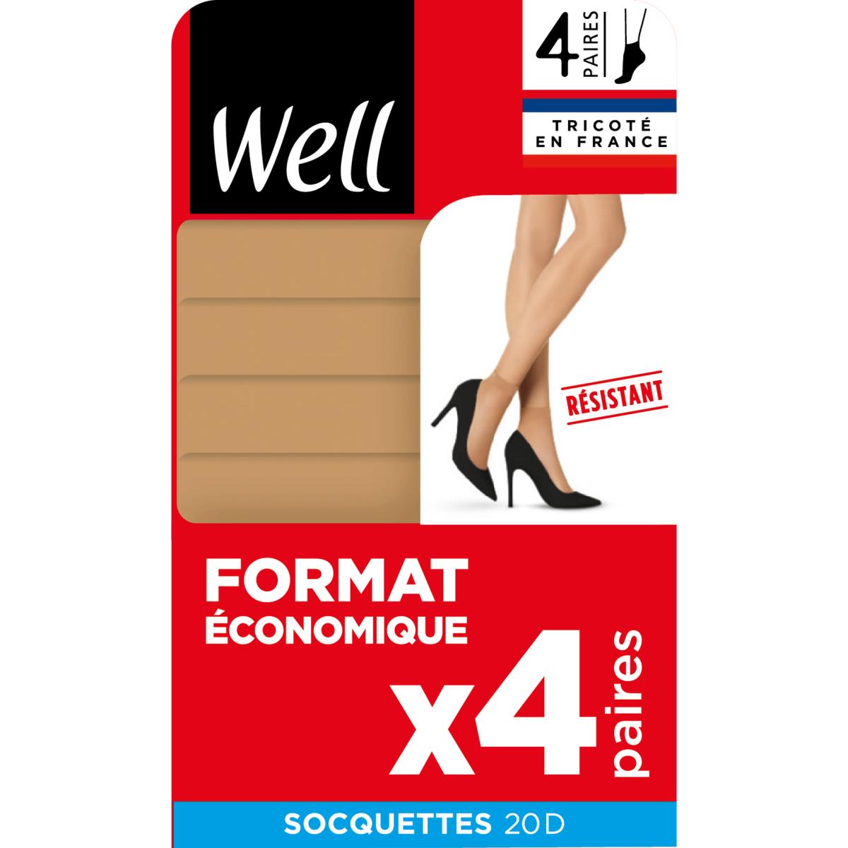 Format Economique Lot de 4 Socquettes Transparentes