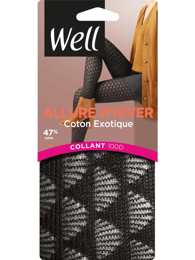Allure d'Hiver Coton Exotique Collant Opaque