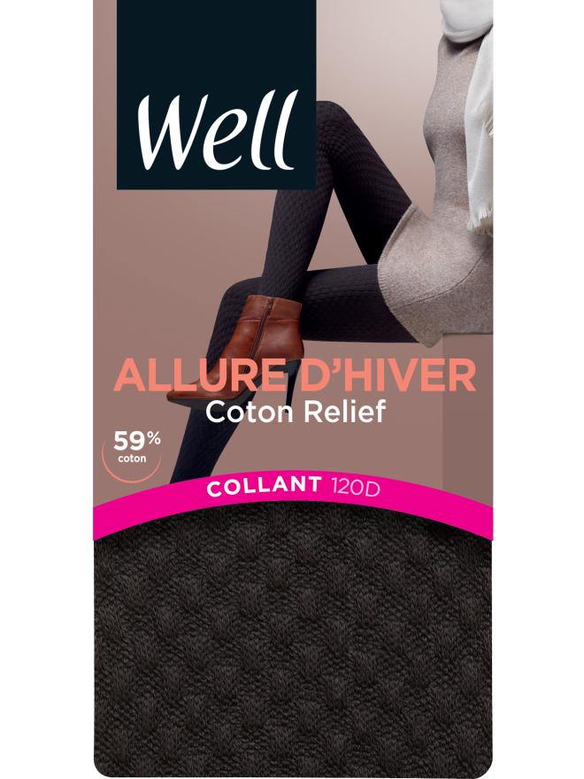 Collant Coton Relief Allure d'Hiver 120D