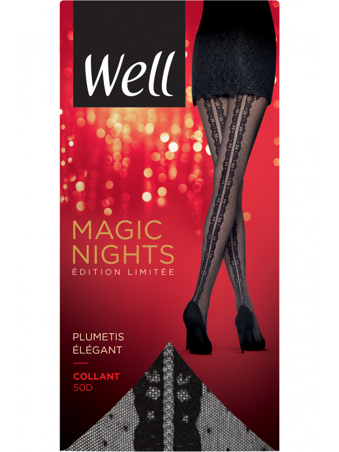 Collant Fantaisie Plumetis Transparent 20D Magic Nights