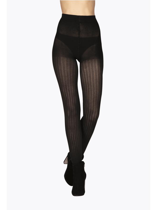 Collant Fantaisie Opaque 120D Noir Allure d'Hiver