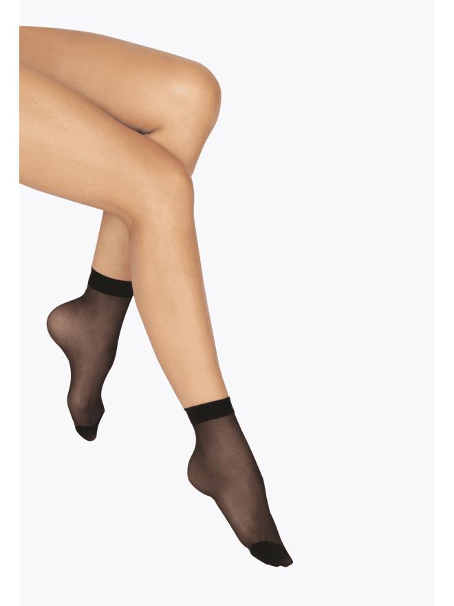 Lot de 2 paires de Socquettes Transparentes 17D Elastivoile Résistant