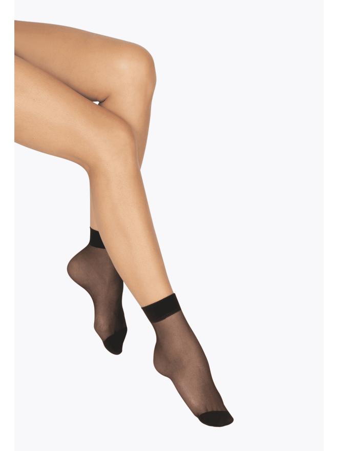 Lot de 4 paires de Socquettes Transparentes 20D