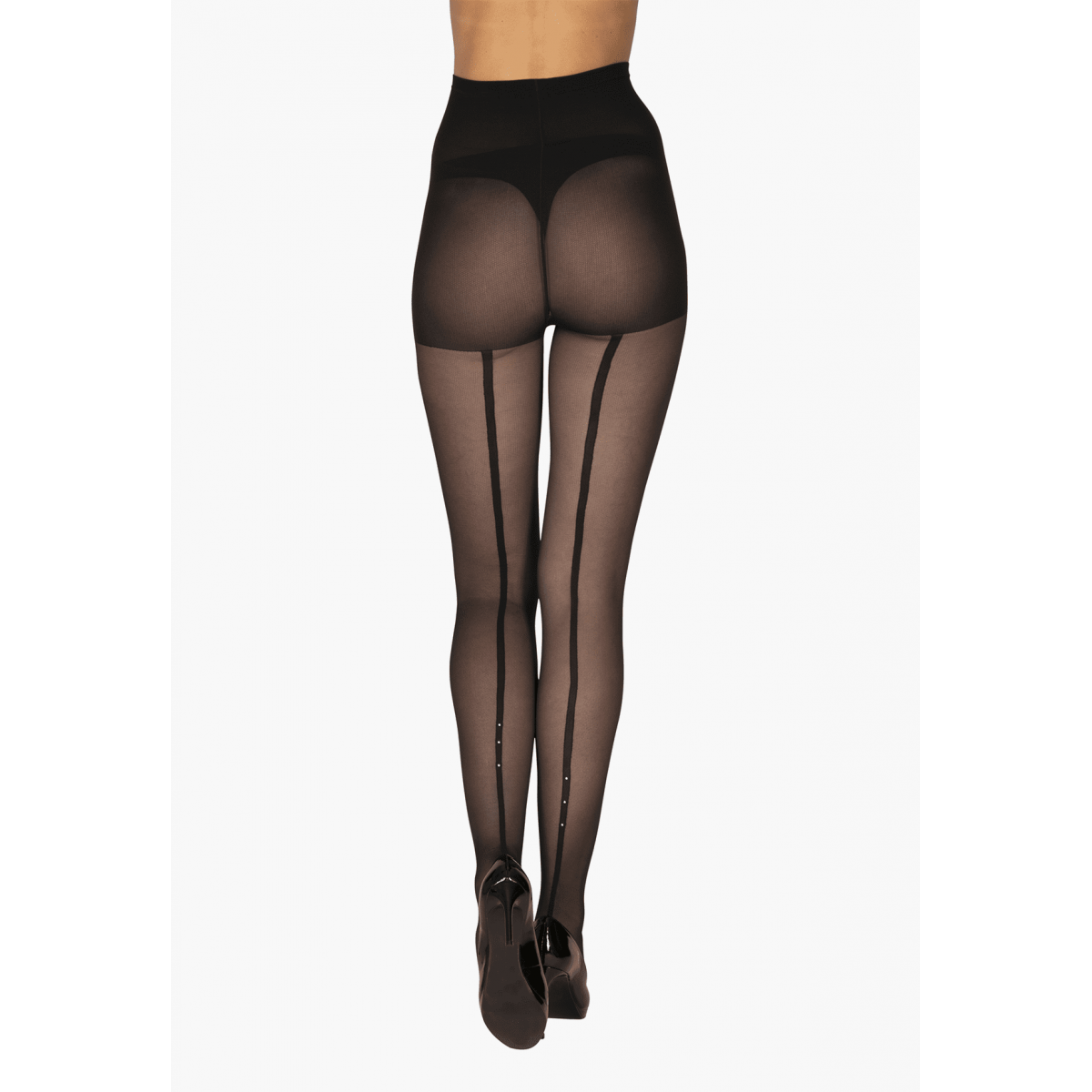 Collant Fantaisie Transparent 20D avec Baguette Strass Magic Nights